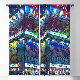 Tokyo 1 by whacky Blackout Curtain