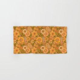 Flower power soft Apricot Hand & Bath Towel