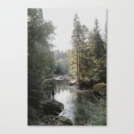 All the Drops form a River - landscape photography Canvas Print