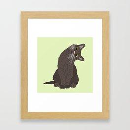 Wanderlust Cat Framed Art Print