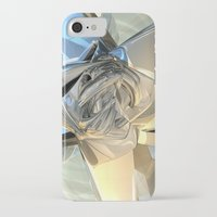 bands iPhone & iPod Cases featuring Blue And Beige Bands by Phil Perkins