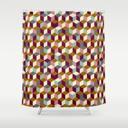 Cubic Pattern Shower Curtain
