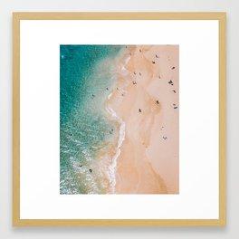 Busy Hawaii Beach Framed Art Print