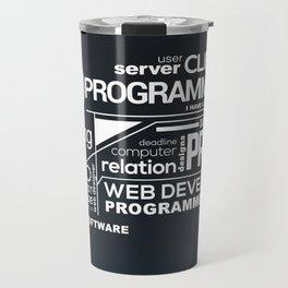 Programmer: Typography Programming 2 Travel Mug