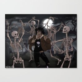 Spooky Scary Skeletons Canvas Print