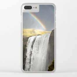 Skogafoss Falls, Iceland Clear iPhone Case