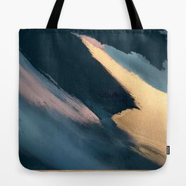Ignite: colorful abstract in blue pink and gold Tote Bag