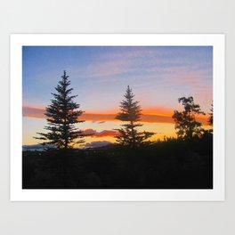 Oregon Sky. Art Print