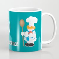 cooking Mugs featuring OCD Obsessive cooking disorder by mangulica
