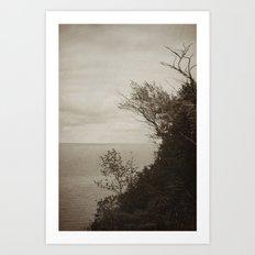 On Edge - Black and White Art Print