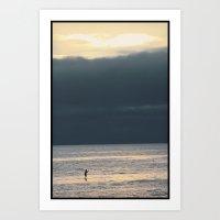 Lone Paddle Boarder Art Print