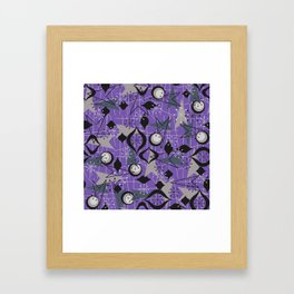 Mid Century Atomic Arrow Patterns Framed Art Print