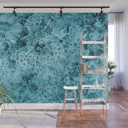 ice Crystals turquoise Wall Mural