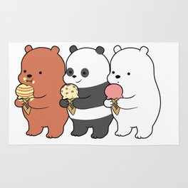 Baby Bears Eating Some Ice Cream Rug