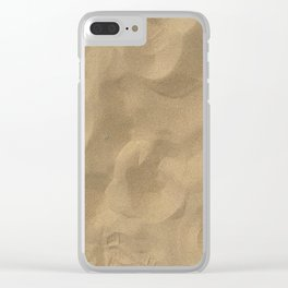 Sand at Stockton Sand Dunes, Port Stephens, Australia Clear iPhone Case