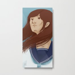 Serafuku Girl Metal Print