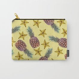 starfruits - Pineapple pattern - yellow background Carry-All Pouch