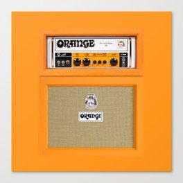 Bright Orange color amplifier amp Canvas Print