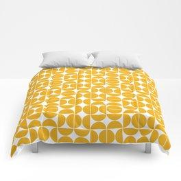 Mid Century Modern Geo 04B Yellow Comforters