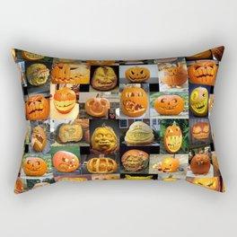 Pumpkin Faces Rectangular Pillow