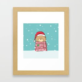 Christmas Teddy bear Framed Art Print