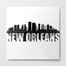 New Orleans Silhouette Skyline Metal Print