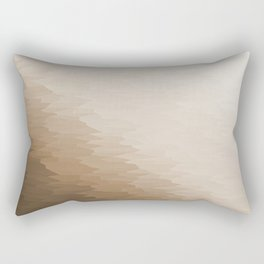 Beige Ombre Texture Rectangular Pillow