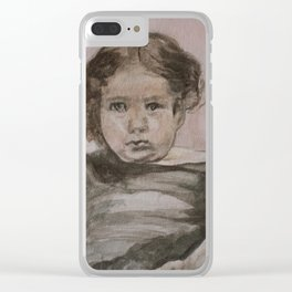 Baby Girl Clear iPhone Case