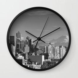 Seattle Winter White Wall Clock