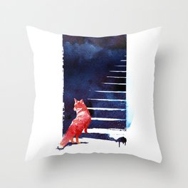 Should I stay? Throw Pillow