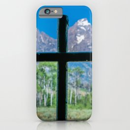 Grand Teton Cross View iPhone Case