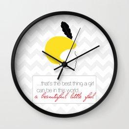 The Great Gatsby Daisy Wall Clock