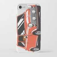 mini cooper iPhone & iPod Cases featuring Mini Cooper Car - Red by C Barrett