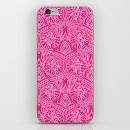Floral Mandala in Pink iPhone Skin