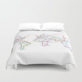 World Metro Subway Map Duvet Cover