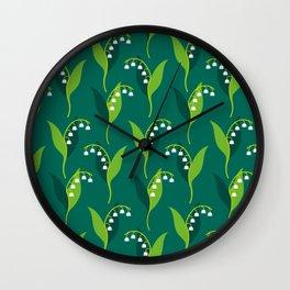 Lily of the Valley (Convallaria majalis) Wall Clock