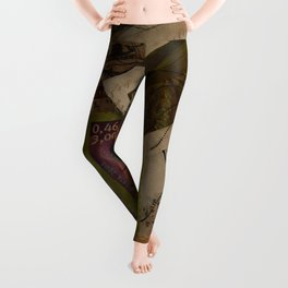 French Postage Stamps Collection Leggings