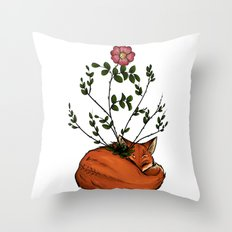 Grow with me - Fox  Throw Pillow