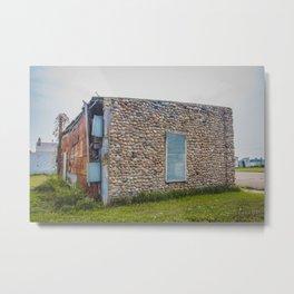 Stone Building, Regan, North Dakota 7 Metal Print