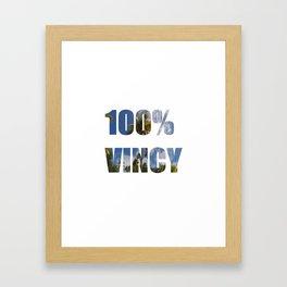 100% Vincy Framed Art Print