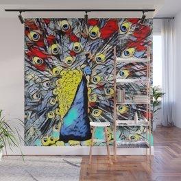 Color Kick - peacock Wall Mural