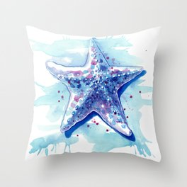 Starfish Waters I Throw Pillow