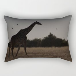 Giraffe Silhouette Rectangular Pillow