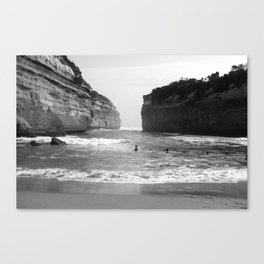 Between The Rock and The Hard Place Canvas Print