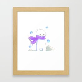 Sup Guy Is Cold Framed Art Print