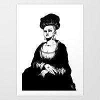 mona lisa Art Prints featuring Mona Lisa by Vincent Roché