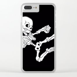 Kung fu Skull Clear iPhone Case