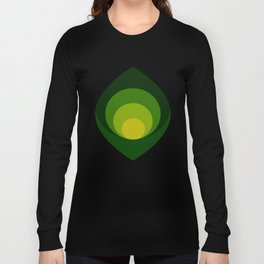 Retro petals design - Shade of green Long Sleeve T-shirt