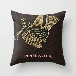 PIPIFLAUTA Throw Pillow