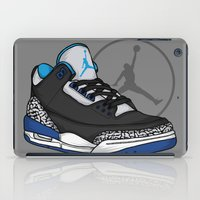 sport iPad Cases featuring Jordan 3 (Sport Blue) by Pancho the Macho
